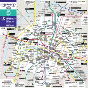 Mapa del Metro de Paris