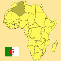 Mapa Argelia, Africa
