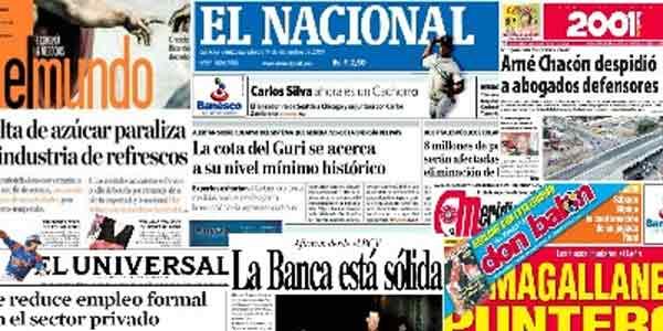 Prensa Escrita en Venezuela / Diarios y Periódicos de Venezuela