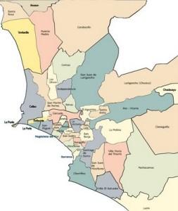 Mapa de la zona Metropolitana de Lima