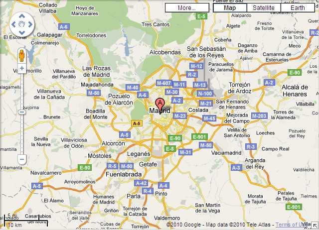 Mapa de Madrid con atracciones turísticas, que ver en Madrid