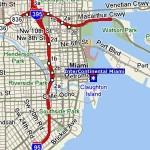 Mapa de Miami con Calles y Avenidas