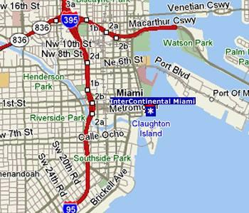 Mapa de Miami con todos los puntos de interés de la ciudad