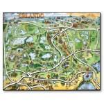 mapa de orlando con parques