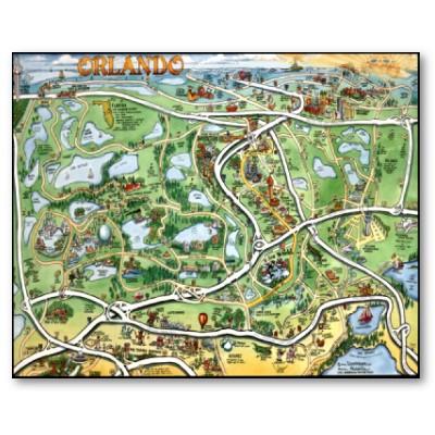 Mapa de Orlando como llegar a los parques