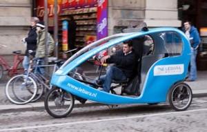 Bicitaxi en Amsterdam