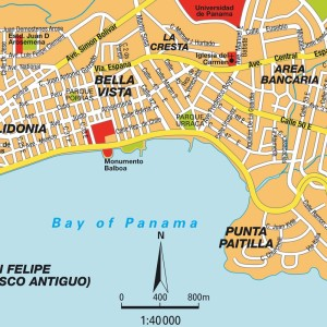 Mapa de la Ciudad de  Panama