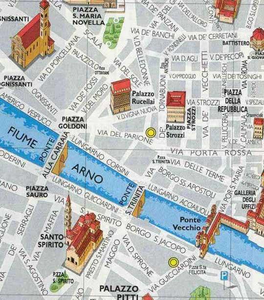 Mapa Turistico de Florencia