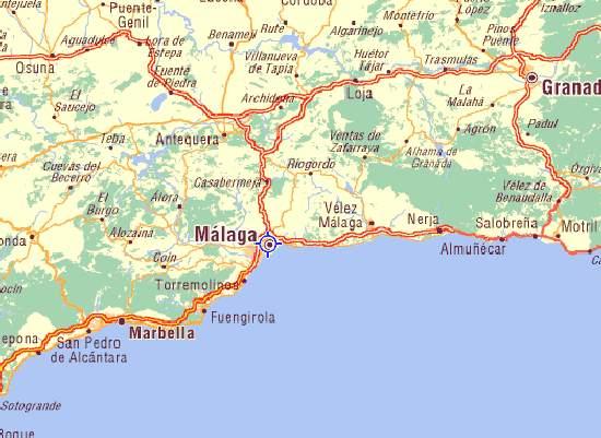 Callejero Malaga | Mapa Andalucia