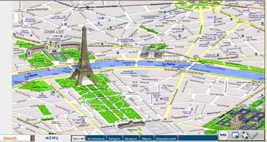 Paris Tourist Map with tourist attractions, all sites and ...