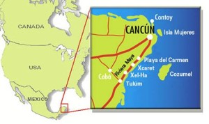 Mapa de Cancún y Rivera Maya, que conocer