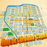 Mapa de Cordoba con calles y avenidas