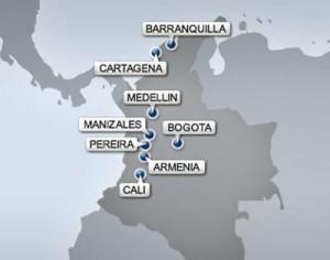 Ciudades del Mundial de Sub 20 Colombia 2011