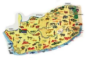 mapa de sudafrica