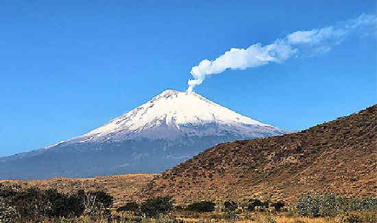 Volcanes de México  – Volcanes activos y volcanes no activos – Popocatépetl