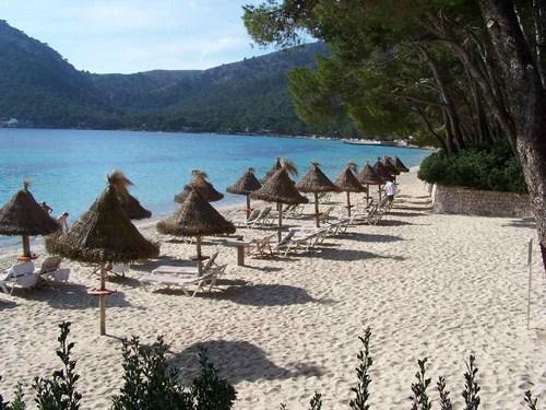 Mapa para conocer las playas, calas y puertos de Mallorca.
