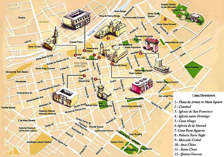 Mapa de Lima Centro | Para Viajar, para unas vacaciones