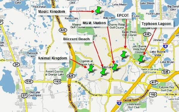 mapa de orlando ubicacion de parques | para viajar, para