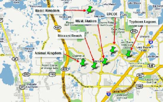 Mapa de Orlando