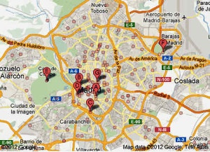 Mapa de jardines de madrid