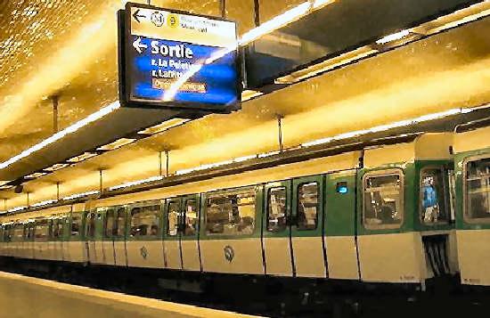 Tarifas y estaciones del Metro de Paris
