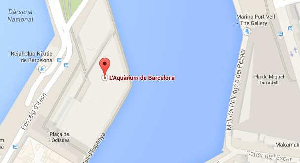 Acuario de Barcelona Direccion con Mapa