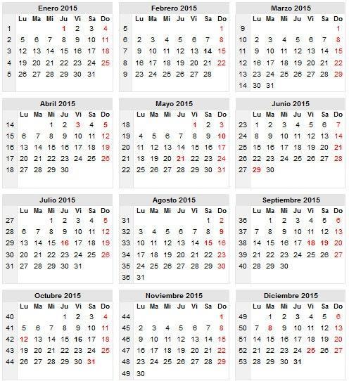 Calendario de días festivos en Venezuela -Calendario 2016 |