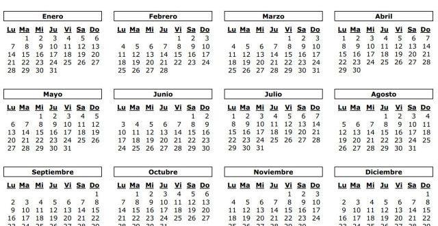 Calendario Chile 2019 Con Feriados.Calendario Con Dias Festivos De Colombia 2019 Almanaque