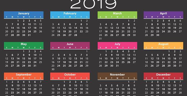 Calendario de feriados  de la Argentina 2019