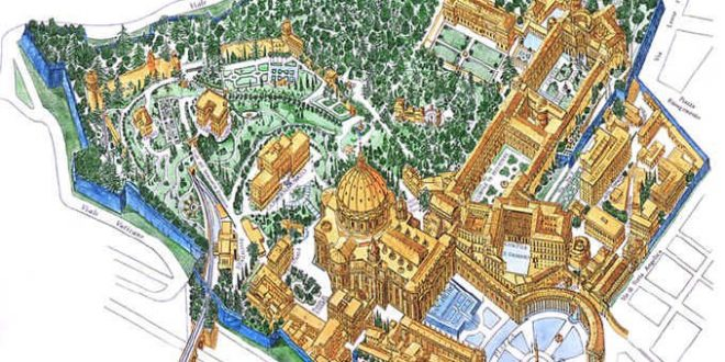 Mapa de la Ciudad del Vaticano