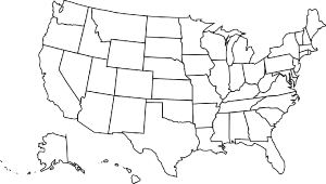 map de united states for coloring