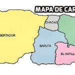Mapa de Caracas con calles y avenidas,