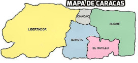 Complete map of Caracas – street map of Caracas with directions