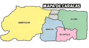 Mapa e Caracas