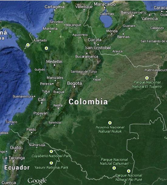 Mapa de Colombia con limites