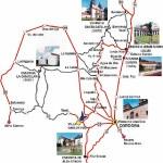 Mapa de Córdoba con atracciones turísticas y con Calles y Avenidas