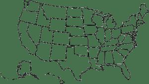 Mapa de Los Estados Unidos para Colorear
