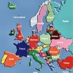 Mapa de Europa en español