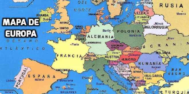 Mapa de Europa, Mapa Político de Europa con Países