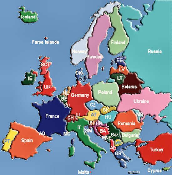 Politico Mapa Europa Con Capitales.Mapa De Europa En Espanol Con Paises Y Capitales