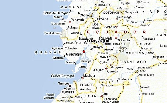 Mapa de Guayaquil con atracciones turísticas