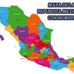 Mapa de México con estados