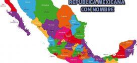 Mapas de México con nombres, de ciudades, estados y capitales