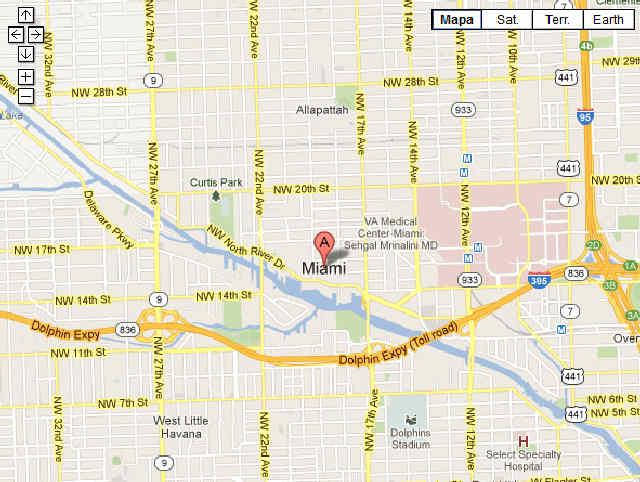 Mapa de Miami con puntos de interés