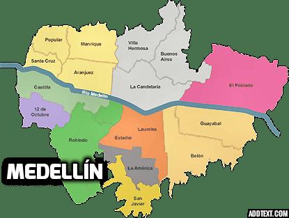 Mapa de Medallin