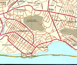 Mapa Panama - Ciudad de Panama