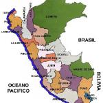 Mapa político del Perú y sus provincias.