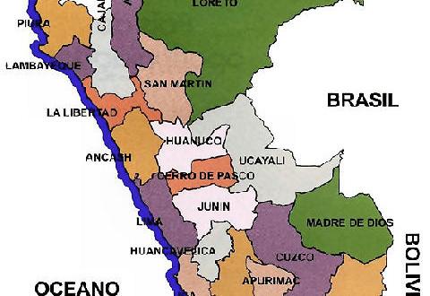 Mapa Político del Perú por Departamentos | Regiones y departamentos del Perú