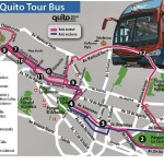 Mapa de Quito con atracciones turísticas.