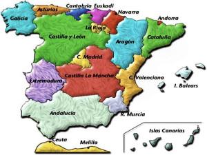 Mapa de Regiones de España